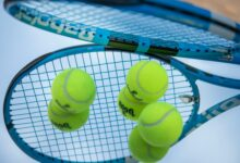 Tennis rackets of professional players